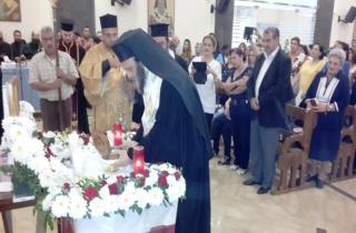 منصور خلال التبرك من رفات القديس جاورجيوس في رحبة : رجاؤنا الى الله ان يبطل الشرور عن لبنان